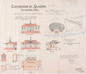 1924 design drawing by Glasgow Corporation Parks Department