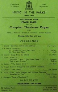 1952 Music In The Parks Programme