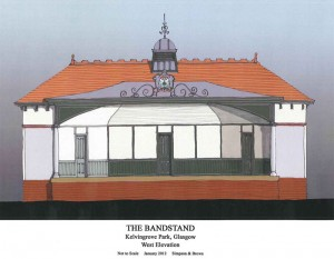 Kelvingrove Bandstand West Elevation